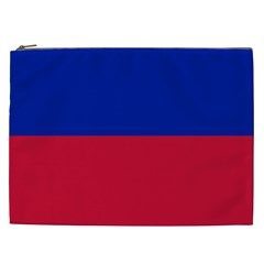 Civil Flag of Haiti (Without Coat of Arms) Cosmetic Bag (XXL)