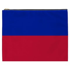 Civil Flag of Haiti (Without Coat of Arms) Cosmetic Bag (XXXL)