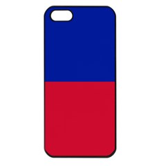 Civil Flag of Haiti (Without Coat of Arms) Apple iPhone 5 Seamless Case (Black)