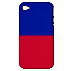 Civil Flag of Haiti (Without Coat of Arms) Apple iPhone 4/4S Hardshell Case (PC+Silicone)