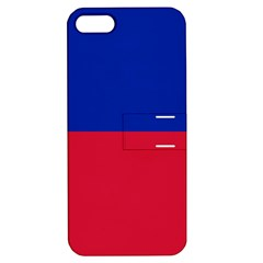 Civil Flag of Haiti (Without Coat of Arms) Apple iPhone 5 Hardshell Case with Stand