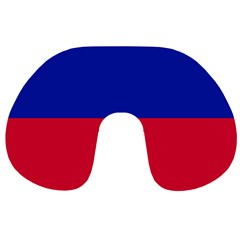 Civil Flag of Haiti (Without Coat of Arms) Travel Neck Pillows