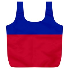 Civil Flag of Haiti (Without Coat of Arms) Full Print Recycle Bags (L)