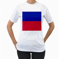 Civil Flag of Haiti (Without Coat of Arms) Women s T-Shirt (White)