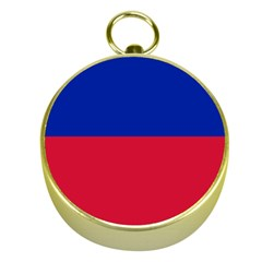 Civil Flag of Haiti (Without Coat of Arms) Gold Compasses