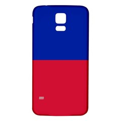 Civil Flag of Haiti (Without Coat of Arms) Samsung Galaxy S5 Back Case (White)