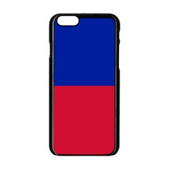 Civil Flag of Haiti (Without Coat of Arms) Apple iPhone 6/6S Black Enamel Case