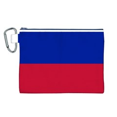Civil Flag of Haiti (Without Coat of Arms) Canvas Cosmetic Bag (L)