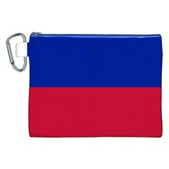 Civil Flag of Haiti (Without Coat of Arms) Canvas Cosmetic Bag (XXL)