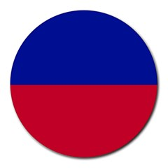 Civil Flag of Haiti (Without Coat of Arms) Round Mousepads