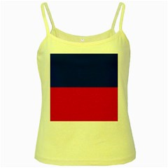 Civil Flag of Haiti (Without Coat of Arms) Yellow Spaghetti Tank