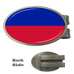 Civil Flag of Haiti (Without Coat of Arms) Money Clips (Oval)