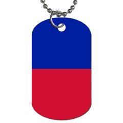 Civil Flag of Haiti (Without Coat of Arms) Dog Tag (Two Sides)