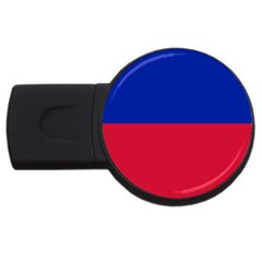 Civil Flag of Haiti (Without Coat of Arms) USB Flash Drive Round (2 GB)