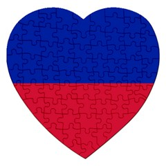 Civil Flag of Haiti (Without Coat of Arms) Jigsaw Puzzle (Heart)
