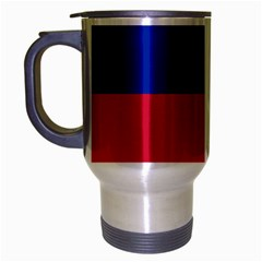 Civil Flag of Haiti (Without Coat of Arms) Travel Mug (Silver Gray)
