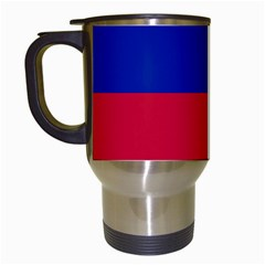 Civil Flag of Haiti (Without Coat of Arms) Travel Mugs (White)