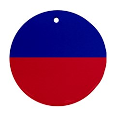 Civil Flag of Haiti (Without Coat of Arms) Round Ornament (Two Sides)