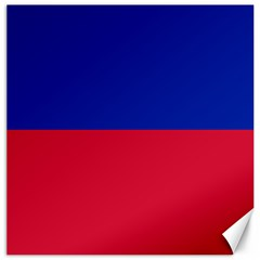 Civil Flag of Haiti (Without Coat of Arms) Canvas 16  x 16