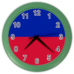 Civil Flag of Haiti (Without Coat of Arms) Color Wall Clocks