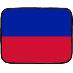 Civil Flag of Haiti (Without Coat of Arms) Double Sided Fleece Blanket (Mini)