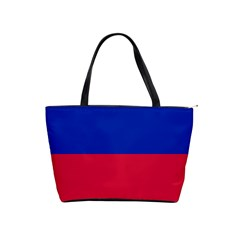 Civil Flag of Haiti (Without Coat of Arms) Shoulder Handbags