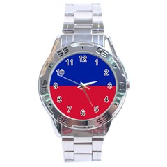 Civil Flag of Haiti (Without Coat of Arms) Stainless Steel Analogue Watch