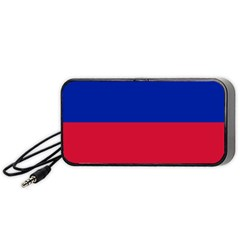 Civil Flag of Haiti (Without Coat of Arms) Portable Speaker (Black)