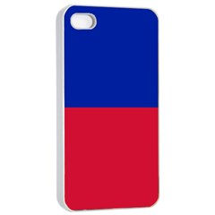 Civil Flag of Haiti (Without Coat of Arms) Apple iPhone 4/4s Seamless Case (White)