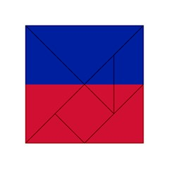 Civil Flag of Haiti (Without Coat of Arms) Acrylic Tangram Puzzle (4  x 4 )