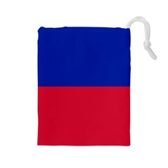 Civil Flag of Haiti (Without Coat of Arms) Drawstring Pouches (Large)