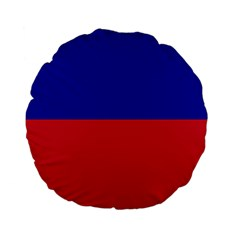 Civil Flag of Haiti (Without Coat of Arms) Standard 15  Premium Flano Round Cushions