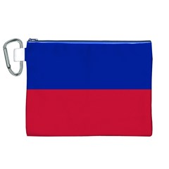 Civil Flag of Haiti (Without Coat of Arms) Canvas Cosmetic Bag (XL)