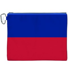 Civil Flag of Haiti (Without Coat of Arms) Canvas Cosmetic Bag (XXXL)