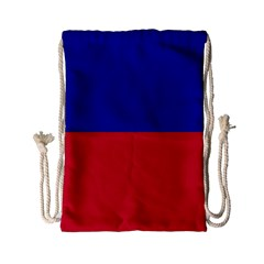 Civil Flag Of Haiti (without Coat Of Arms) Drawstring Bag (small)