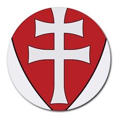 Coat of Arms of Apostolic Kingdom of Hungary, 1172-1196 Round Mousepads