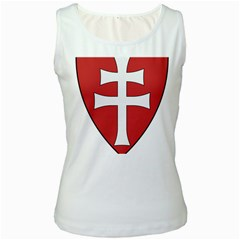 Coat of Arms of Apostolic Kingdom of Hungary, 1172-1196 Women s White Tank Top