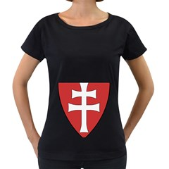 Coat of Arms of Apostolic Kingdom of Hungary, 1172-1196 Women s Loose-Fit T-Shirt (Black)