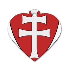 Coat of Arms of Apostolic Kingdom of Hungary, 1172-1196 Dog Tag Heart (Two Sides)