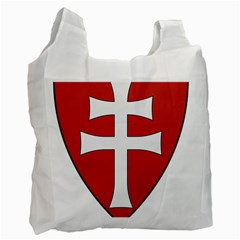 Coat of Arms of Apostolic Kingdom of Hungary, 1172-1196 Recycle Bag (Two Side)
