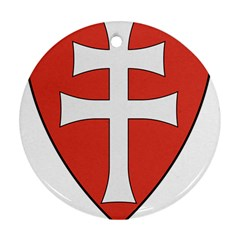 Coat of Arms of Apostolic Kingdom of Hungary, 1172-1196 Ornament (Round)