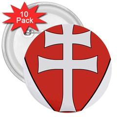 Coat of Arms of Apostolic Kingdom of Hungary, 1172-1196 3  Buttons (10 pack)