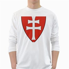 Coat of Arms of Apostolic Kingdom of Hungary, 1172-1196 White Long Sleeve T-Shirts