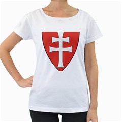 Coat of Arms of Apostolic Kingdom of Hungary, 1172-1196 Women s Loose-Fit T-Shirt (White)