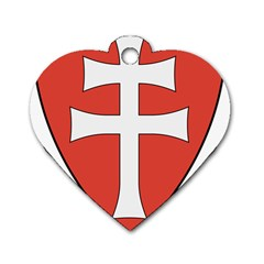 Coat of Arms of Apostolic Kingdom of Hungary, 1172-1196 Dog Tag Heart (One Side)