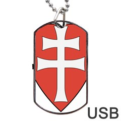 Coat of Arms of Apostolic Kingdom of Hungary, 1172-1196 Dog Tag USB Flash (Two Sides)