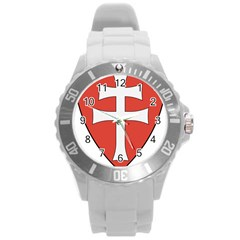 Coat of Arms of Apostolic Kingdom of Hungary, 1172-1196 Round Plastic Sport Watch (L)