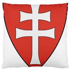 Coat of Arms of Apostolic Kingdom of Hungary, 1172-1196 Large Flano Cushion Case (One Side)
