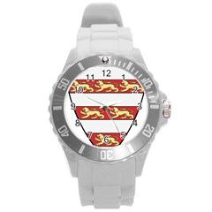 Hungarian Kings (1000 1301) & Seal Of King Emeric (1202) Round Plastic Sport Watch (l)