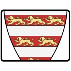 Hungarian Kings (1000-1301) & Seal of King Emeric (1202) Double Sided Fleece Blanket (Large)